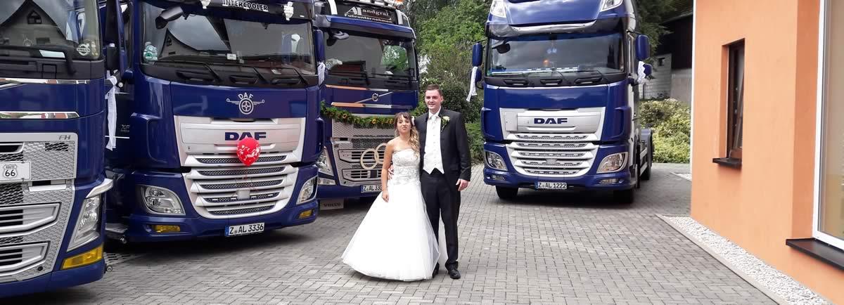 Hochzeit beim Fuhrunternehmen Landgraf