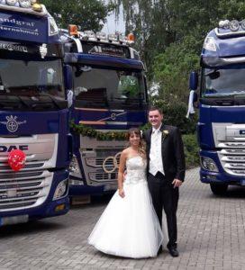 Hochzeitsfeier mit Truck